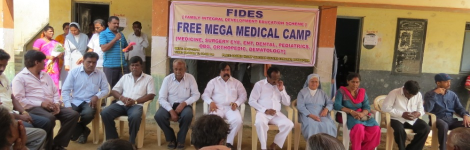 Health camp in kaverinagar slum